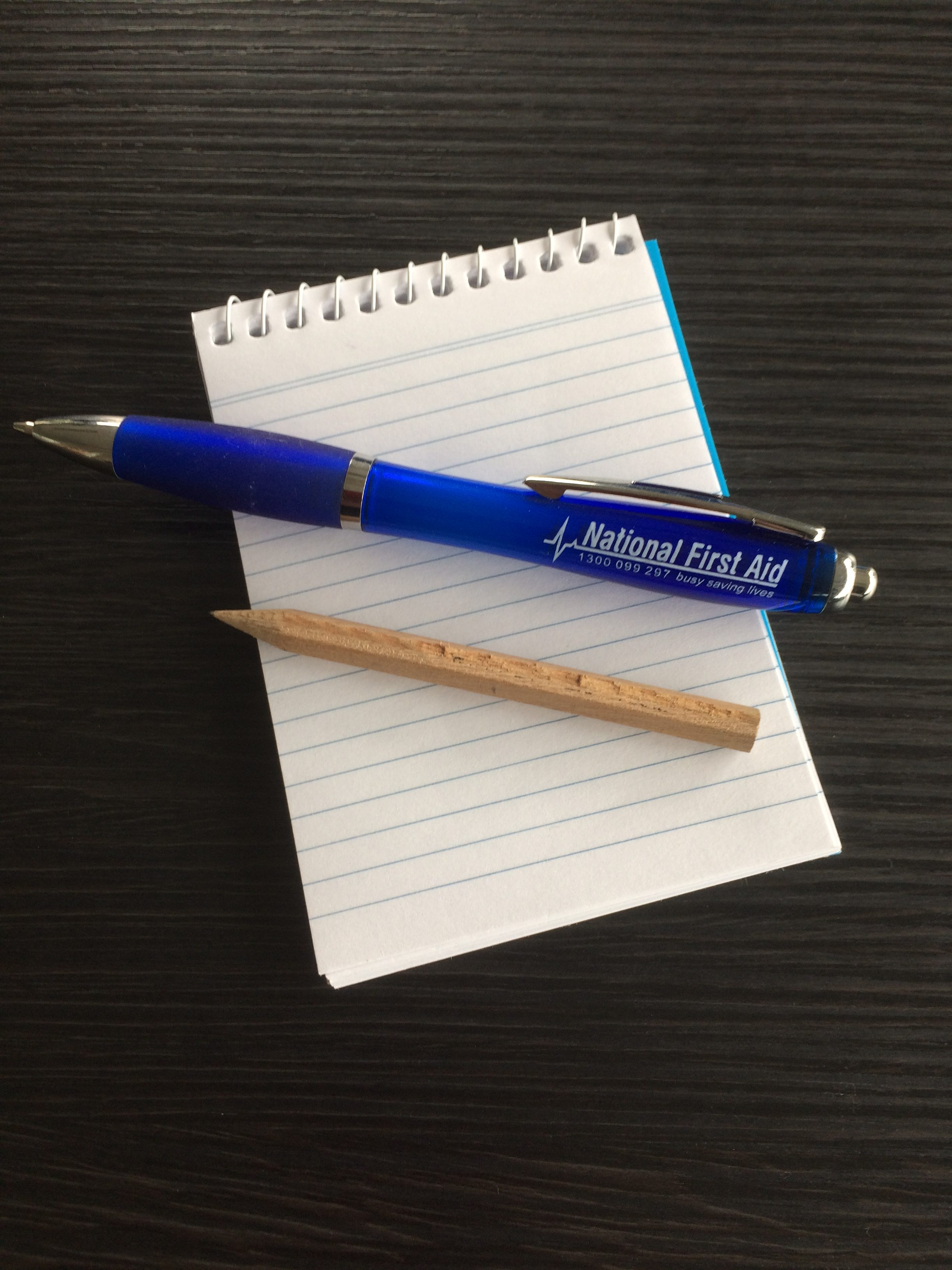 Notebook Pen and Pencil